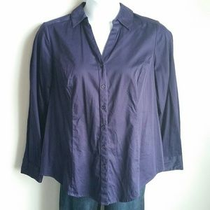 Lane Bryant purple button down size 20